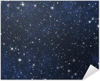 Plakát Pixerstick Star plněné noční oblohu