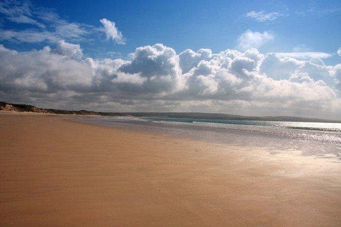 Plakát Pláž u Dunnet hlava, nejsevernější bod Skotsko, Velká Británie - Evropa