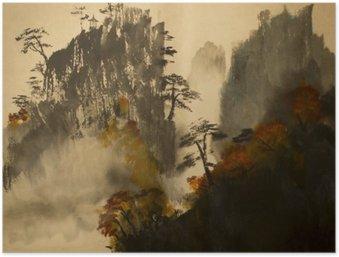 Plakát Podzim v horách Číny