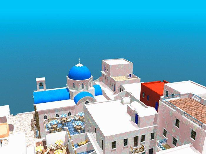 Plakát Pohled na Oia, Santorini, Řecko - Památky