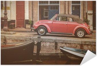 Plakát Pohled na staré kanálu v Amsterdamu