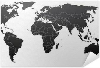 Plakát Politická mapa světa
