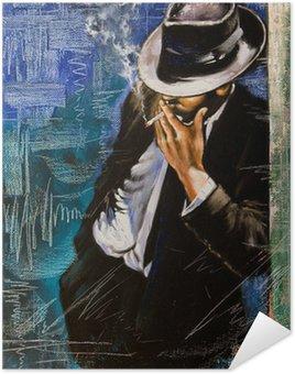 Plakát Portrét muže s cigaretou