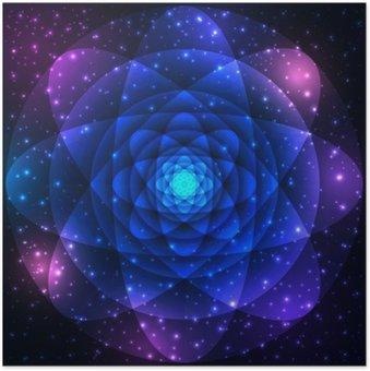 Plakát Posvátná geometrie symbol. Mandala tajemství element