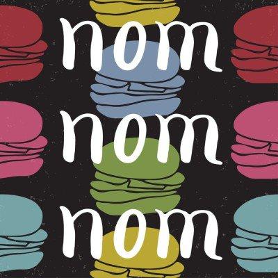 Plakát Potraviny typografické citát karta