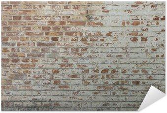 Plakát Pozadí starých vintage špinavé cihlové zdi s omítkou loupání