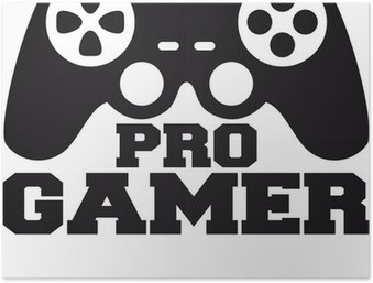 Plakát Pro Gamer Logo