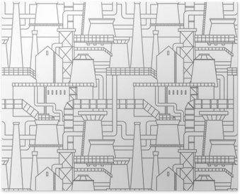 Plakát Průmyslové město vzor