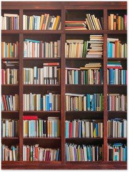 Plakát Regál plný s knihami
