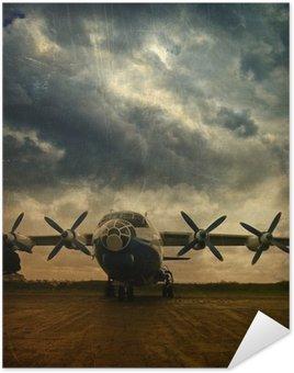 Plakát Retro letectví, grunge pozadí