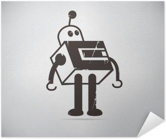 Plakát Retro robot karikatura