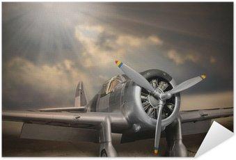 Plakát Retro styl obraz letadla.