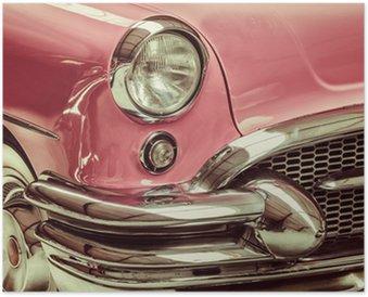 Plakát Retro stylizovaný obraz přední části klasické auto