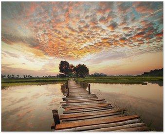 Plakát River na západ slunce