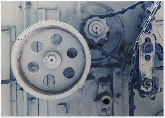 Plakát Ročník mechanismus stroj ve výrobním závodě
