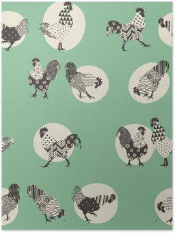 Plakát Roosters