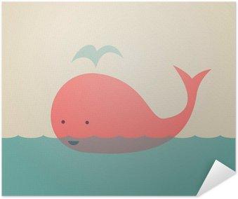 Plakát Roztomilý Velryba