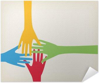 Plakát Ruce spojovací