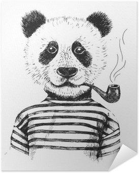 Plakát Ručně malovaná ilustrace bederní panda