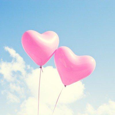Plakát Růžové srdce bubliny