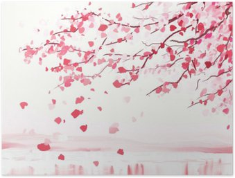 Plakát Sakura japonský styl