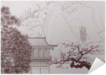 Plakat Samoprzylepny Chiński krajobraz