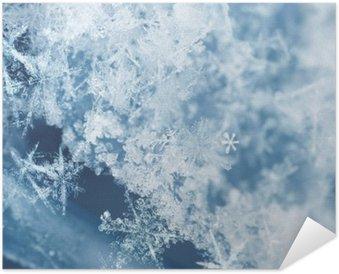 Plakat Samoprzylepny Frosty płatki śniegu