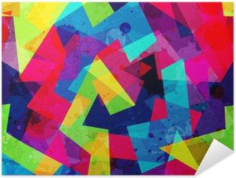 Plakat Samoprzylepny Jasny geometryczny szwu z mocą grunge