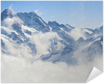 Plakat Samoprzylepny Jungfraujoch Alpy górski krajobraz
