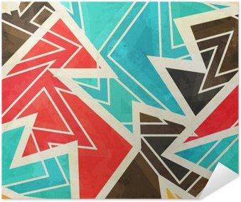 Plakat Samoprzylepny Młodzieży geometryczne szwu z mocą grunge