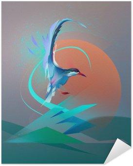 Plakat Samoprzylepny Ptak Mewa tern