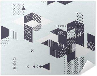 Plakat Samoprzylepny Streszczenie nowoczesne geometryczne tle