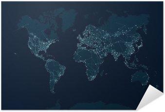 Plakát Satelitní komunikační síť na světě