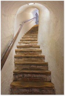 Plakát Schody v hradě Kufstein - Rakousko