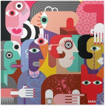 Plakát Šest žen a pes