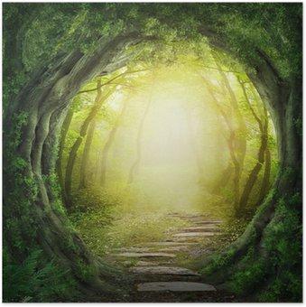 Plakát Silnice v temném lese