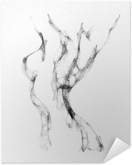 Plakát Silueta krásné nahé ženy vektorové ilustrace