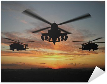 Plakát Silueta vrtulníku