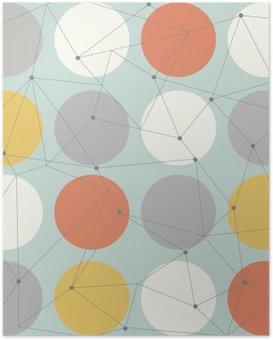 Plakát Skandinávský geometrické moderní bezešvé vzor