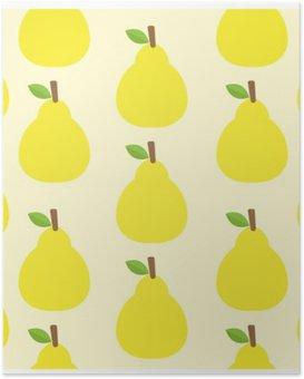 Plakat Śliczne tło wektor wzór Kolor owoców Spójrz pyszne zaokrągloną