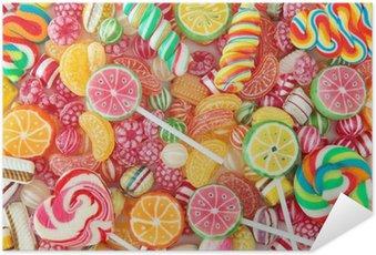 Plakát Smíšené barevné ovoce bonbon zblízka