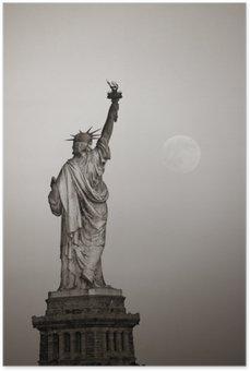 Plakát Socha svobody a Měsíce