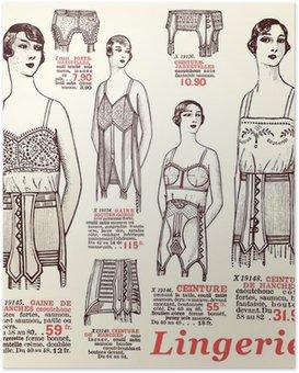 Plakát Spodní prádlo 1930