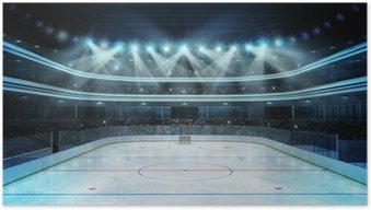 Plakát Stadion diváky a prázdný kluziště