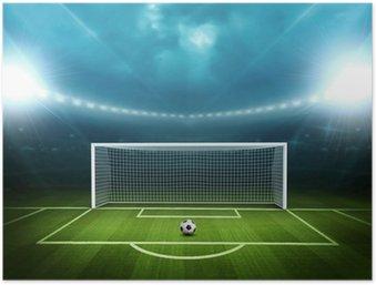 Plakát Stadion s fotbalovým míčem