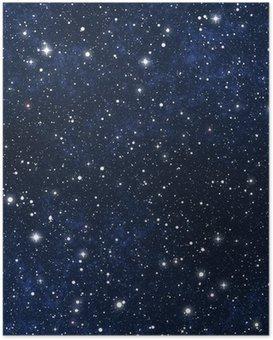 Plakát Star plněné noční oblohu