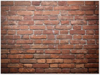 Plakát Staré grunge červené cihlové zdi textury