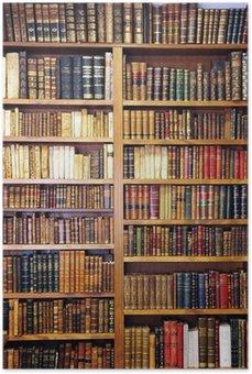 Plakát Staré knihy, knihovna
