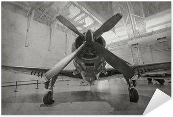 Plakát Staré letadlo v hangáru