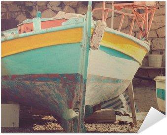 Plakát Staré lodi, abstraktní vintage pozadí - dojmy z Řecka